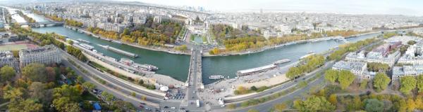 La Seine vue de la tour Eiffel